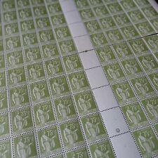 FEUILLE SHEET TIMBRE TYPE PAIX N°284A x100 EN 2 PARTIES 1938 NEUF ** LUXE MNH