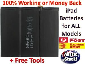 New Battery Replacements for iPad 1 2 3 4 5 6 Air 1 2 Pro 9.7 12.9 10.5 Mini