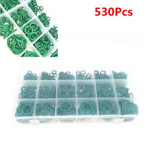 530Pcs Boxed Rubber O-ring Seal A/C Gaskets For Car Air Conditioning Compressor