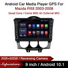 9  Android 10.1 Car Stereo Media Player GPS Head Unit For Mazda RX8 2003-2008