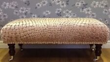 A Quality Long Footstool In Designers Guild Nabucco Rose Fabric