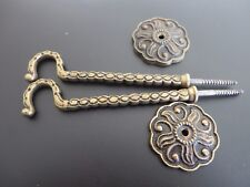 PAIR OF OLD BRASS CURTAIN TIE BACKS FRENCH