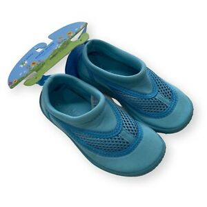 Green Sprouts i Play Toddler Water Shoes Aqua Blue Size 8/EU 24