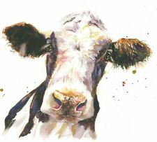 Fine Art Print of DAIRY COW  watercolour by HELEN APRIL ROSE  663