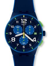 Swatch Chrono Plastik Bleu sur Bleu SUSN409 Neuware