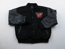 RARE Won.net World Opponet Network Gaming Jacket Sz Large Varsity Letterman Coat
