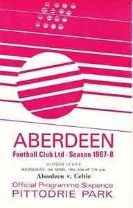 Aberdeen v Celtic 3 Apr 1968