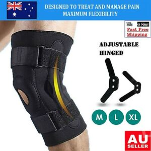 Hinged Knee Brace Adjustable Open Patella Support Swollen Tendon Ligament ACL OZ