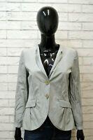 Giacca EMPORIO ARMANI 42 Cappotto Jacket Donna Giubbotto Cardigan Grigio Cotone