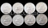🇨🇦CANADA 1972 TO 1979 SET OF 10 CENTS UNC (8 COINS)