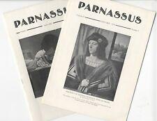 2 PARNASSUS Art Magazines 1929-30, Old Masters, Japanese Stoneware, Art Exhibits