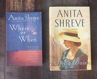 Anita Shreve Lot of 2 Books Where or When Stella Bain
