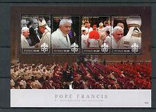 Tuvalu 2015 MNH Pope Francis Presides Papal Consistory 4v M/S Benedict XVI Popes