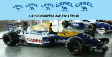 1/43 Camel Williams FW14 FW14B FW15 FW15C DECALS TB DECAL TBD75