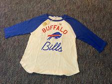 New JUNK FOOD Official Buffalo Bills NFL Football Raglan 3/4 Sleeve Soft Shirt L