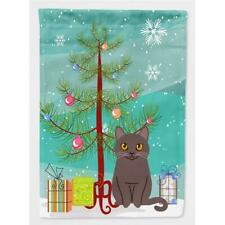 Carolines Treasures Bb4418Chf Chartreux Cat Merry Christmas Tree Flag Canvas .