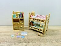 Sylvanian Families Children's Bedroom Bunk Bed Dresser Furniture Set