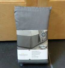 Nwt Twin Threshold Wrinkle Resistant Bed Skirt Full 15� Drop Gray