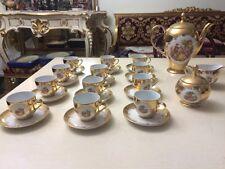 Servizio da caffe da 12 porcellana bavaria decorato a mano oro 24 kt