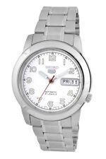 SEIKO SNKK33 SNKK33K1 Mens Automatic See Through White Dial Steel Watch