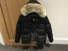 Canada Goose Boys Black Oliver Down Jacket Size 18 XL