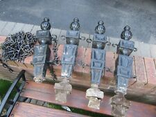 Cast Iron Bollard Posts x 4 with Chain - Reclaimed