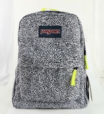 Jansport Superbreak Backpack Black Ziggy T50106Q ORIGINAL 100% AUTHENTIC - NEW!!