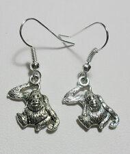 Dangle earrings - silver colour 16mm gorilla