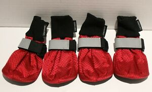 LONSUNEER Reflective Paw Protector Dog Boots Soft Sole Nonslip - Med