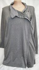 Autograph Zip waterfall Coat Jacket soft stretchy + pockets size 22 long sleeve