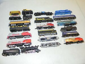 Lot of 21 HO Steam & Diesel Locomotives, Chassis & Shells For Parts or Repair