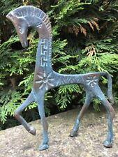 Archiac Ancient Greek Bronze Verdigris Style Brass Small Horse Display Ornament