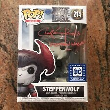 Ciaran Hinds signed Autographed FUNKO POP Justice League Steppenwolf Beckett BAS