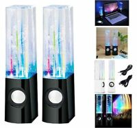 USB WATER DANCING FOUNTAIN STEREO SPEAKERS SET FOR PC LAPTOPS TABLETS MOBILES BN