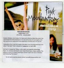 (EV893) Pink Mountaintops, Ambulance City - 2014 DJ CD