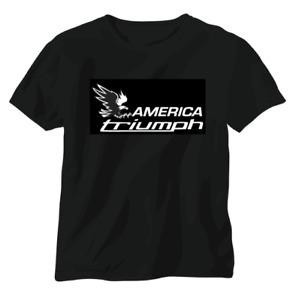 Triumph vintage British T shirt motorbike motorcycle biker America