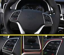 2PCS Chrome Steering wheel Decorative Cap Trim For Hyundai Tucson 2015- 2016