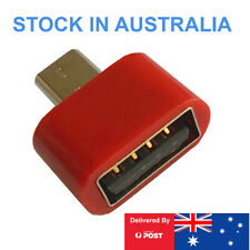 Micro USB B Male to Female USB Type A, OTG Adaptor Red for Android Phones