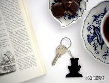 Alice in Wonderland, Mad Hatter  - Silhouette Key Ring