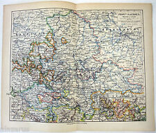 Original German Language Map of The Province of Saxony in 1900