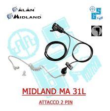 MA31L MIDLAND MICROFONO CON AURICOLARE PNEUMATICO 2 PIN CONNETTORE L ALAN G7 G9