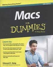 Macs For Dummies, Baig, Edward C., Good Condition, Book
