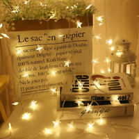 Eg _ USB 20LED Étoile Fairy Cordons Clair Noël Vacances Fête Jardin Décorati