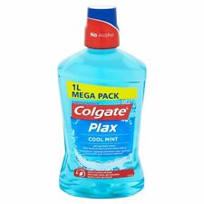 Colgate Plax Cool Mint Mouthwash 1000ml -1 Litre Mega Pack - Alcohol Free