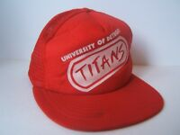 University of Detroit Titans Hat Vintage Red Snapback Trucker Cap