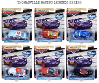 CARS 3 - THOMASVILLE RACING LEGENDS Full Set of 6 - Mattel Disney RARISSMO