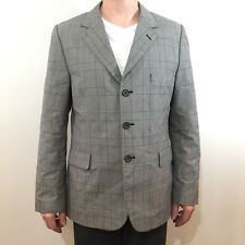 RARE KR3W Gray Black CEO Plaid Blazer Sport Suit Jacket Skater Skateboarding XL