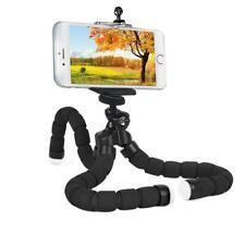 Black Flexible Selfie Monopod Octopus Tripod Camera Cell Phone Bracket Holder