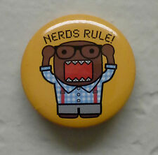 "BRAND NEW Nerds Rule Domo kun 1.25"" Button Pin ~ Officially Licensed"
