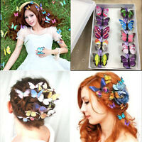 5x Butterfly Hair Clips Bridal Hair Accessories Wedding Photography Costume